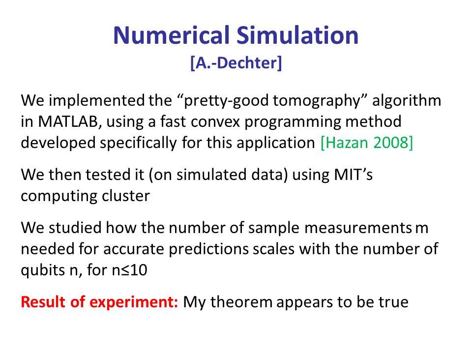 Numerical Simulation [A.-Dechter]